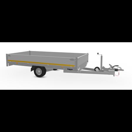 Eduard Geremde Eduard plateauwagen 310x160 cm - 1500 kg bruto laadvermogen - 56 cm laadvloerhoogte - 30  cm  borden