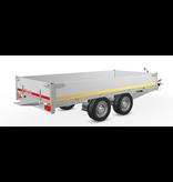Eduard Geremde Eduard plateauwagen - 310x160 cm - 2700 kg bruto laadvermogen - 63 cm laadvloerhoogte - 30 cm borden - inclusief oprijplaten