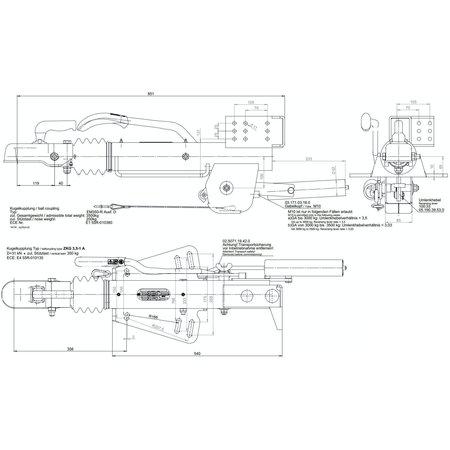 BPW BPW ZAF 3,5-3 oplooprem inclusief neuswielconsole - 1800 > 3500 kg