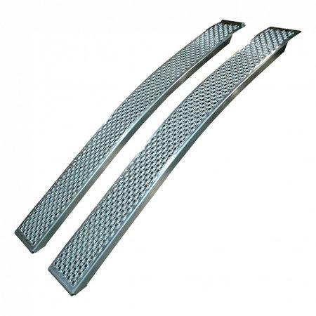 Novio Set  gebogen oprijplaten - aluminium - 1000 kg (200x26 cm)