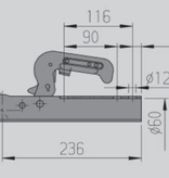 AL-KO AL-KO AK7-B - rond 60 mm - 750 kg - ongeremde koppeling