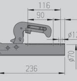 AL-KO AL-KO AK7-C - rond 70 mm - 750 kg - ongeremde koppeling