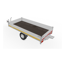 310x160 cm - 1350 kg - inclusief oprijplaten