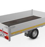 Eduard Geremde Eduard Multitransporter - 256x150 cm - 1350 kg bruto laadvermogen - 56 cm laadvloerhoogte - 30 cm borden - inclusief oprijplaten