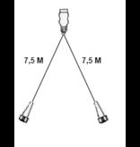 Aspock Hoofdkabel Type Aspock - 7,5 meter lang - 13-polig - voorzien van 2x 5-polige connector