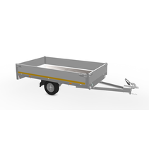 256x150 cm - 750 kg - 30 cm borden 145/80R10
