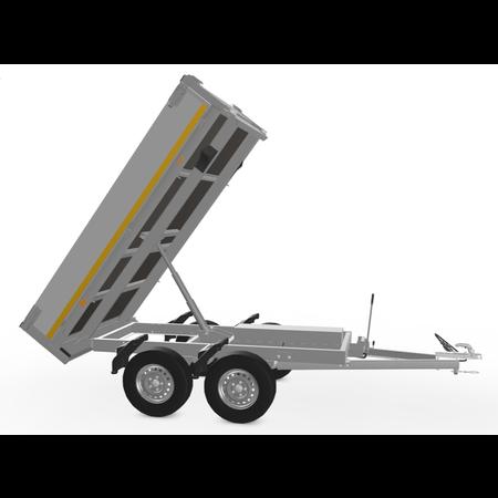 Eduard Ongeremde Eduard achterwaartse kipper - 256x150 cm - 750 kg bruto laadvermogen - elektrisch met afstandsbediening en handpomp - 72 cm laadvloerhoogte