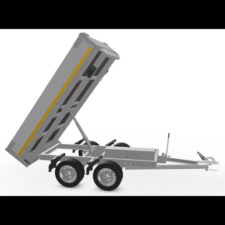Eduard Ongeremde Eduard achterwaartse kipper - 256x150 cm - 750 kg bruto laadvermogen - elektrisch met afstandsbediening en handpomp  - 63 cm laadvloerhoogte