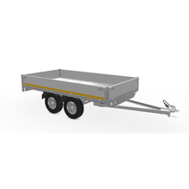 310x160 cm - 750 kg - 30 cm borden - ongeremd