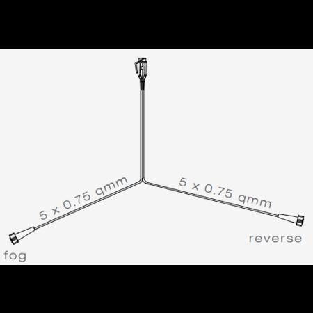 Aspock Hoofdkabel geschikt voor Aspock - 6 meter lang - 13-polig - voorzien van 2x 5-polige connector