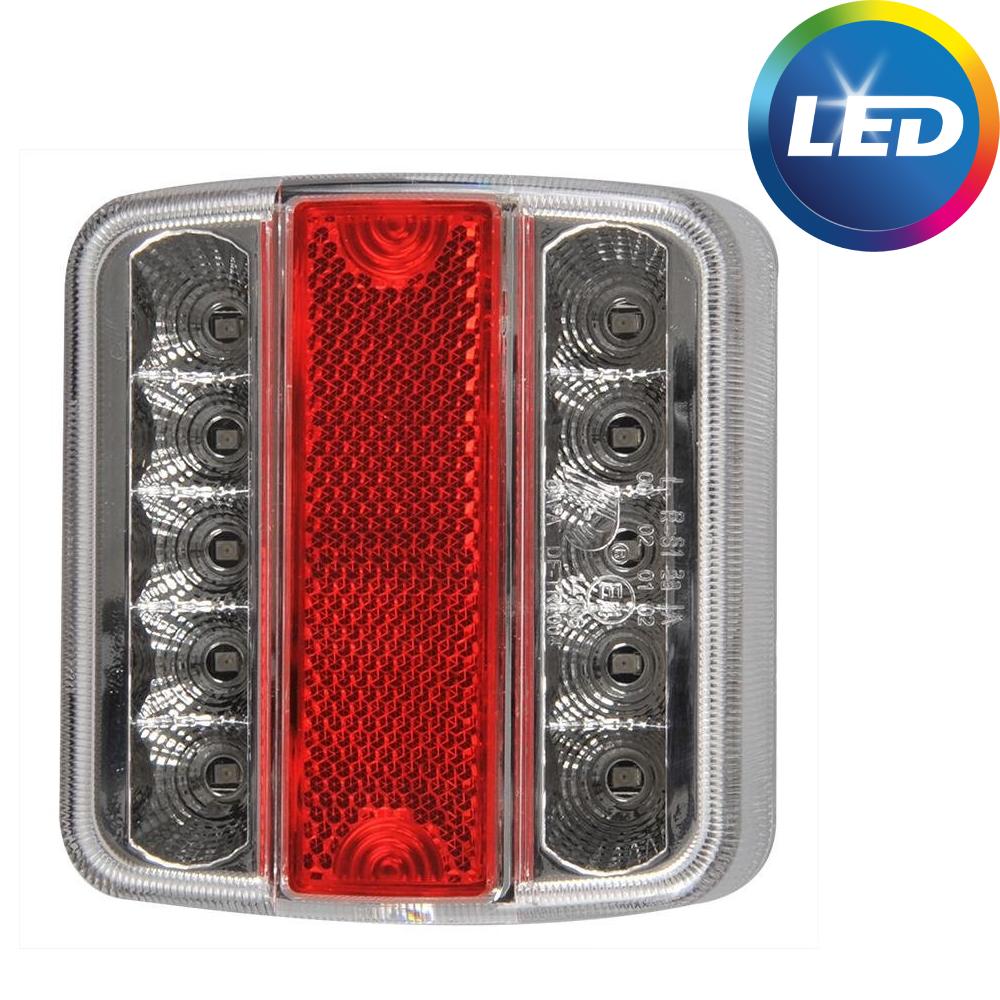 AWD Achterlicht 4 functies 105x98x35 mm - LED - connector aansluiting