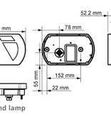 Aspock Achterlicht rechts met ingebouwde weerstand 236x140x25 mm -  Aspöck connectoren