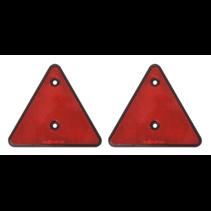 Rode driehoek reflector Set van 2 stuks