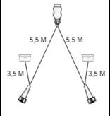 Aspock Aspock hoofdkabel - 5,5 meter lang - 13-polig - voorzien van voorgemonteerde markeringsverlichting