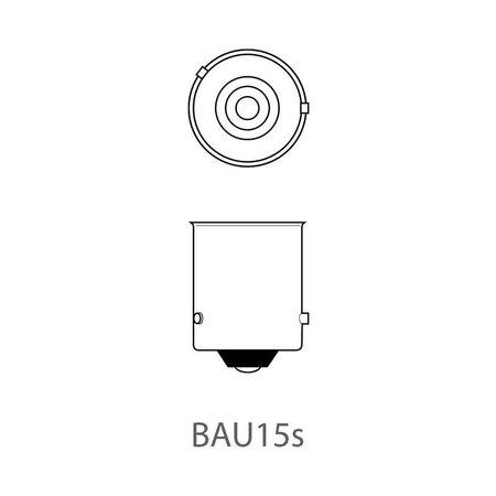 ProPlus Set van 2 lampjes Oranje , Bol Bajonet  12V 21/W ( Oranje knipperlicht) - 5 uurs aansluiting
