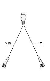 Radex hoofdkabel - 5 meter lang - 13-polig - voorzien van 2x 5-polige connector