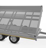 Eduard Eduard drie-zijdige kipper 3500 kg elektrisch extern laden - 330x180 cm - inclusief lichte en sterke aluminium oprijplaten & uitzetsteunen