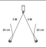 Aspock Hoofdkabel Aspock - 5 meter lang - 7-polig - voorzien van 2x 5-polige connector - inclusief aftakkingen