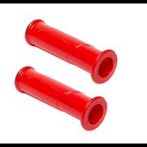 Handvatten rood - hard rubber - premium - set van 2 stuks