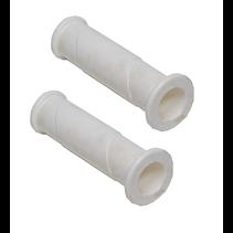 Handvat wit - hard rubber - premium - set van 2 stuks