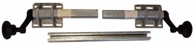 Schlegl Ongeremde torsie as - flensmaat 1250 mm >| 1850 mm - padmaat 900 >| 1400 mm - 750 kg - 4x100