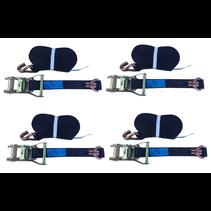 4x spanband 600x3,5 cm - (3000 kg) - zwart