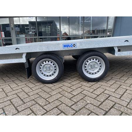 Hulco Geremde Hulco autotransporter - 440x207 cm - 3500 kg bruto laadvermogen - 63 cm laadvloerhoogte - inclusief oprijplaten