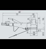 AL-KO Oplooprem 161S (1600kg) vierkant 100 mm