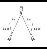 Aspock Type Aspock hoofdkabel - 6  meter lang - 13-polige stekkerdoos - voorzien van 2x 5-polige connector - inclusief aftakkingen 4,2 meter