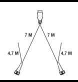 Aspock Type Aspock hoofdkabel - 7  meter lang - 13-polig - voorzien van 2x 5-polige connector - inclusief aftakkingen 4,7 meter