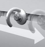 AWD Nethaak  met schuifbevestiging - 30x19x0,8 mm - geschikt voor Anssems aanhanger