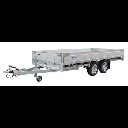 Hulco Geremde Hulco plateauwagen - 405x203 cm - 3500 kg bruto laadvermogen - 30 cm borden