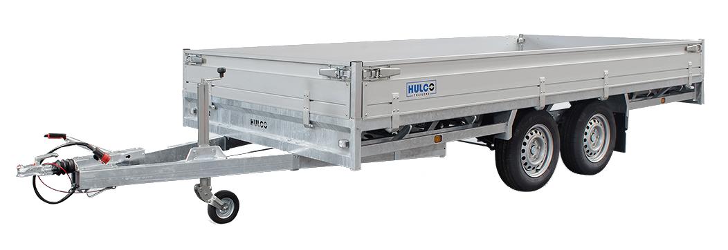 Hulco Geremde Hulco Medax plateauwagen - 405x203 cm - 3500 kg bruto laadvermogen - 30 cm borden