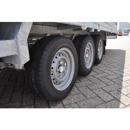 Hulco Geremde Hulco plateauwagen - 611x223 cm - 3500 kg bruto laadvermogen - 30 cm borden