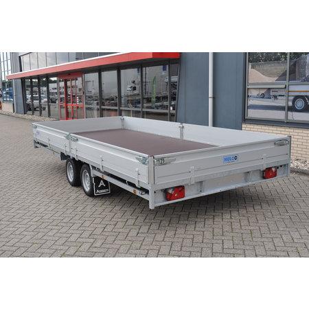 Hulco Geremde Hulco plateauwagen - 502x203 cm - 3500 kg bruto laadvermogen - 30 cm borden