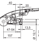 AL-KO AL-KO AKS3004 antislinger geremde koppeling - rond 35/45/50 mm - 3000 kg - inclusief slot en safetybal