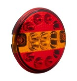 AWD LED achterlicht rond plat 140x35 mm - losse draad aansluiting