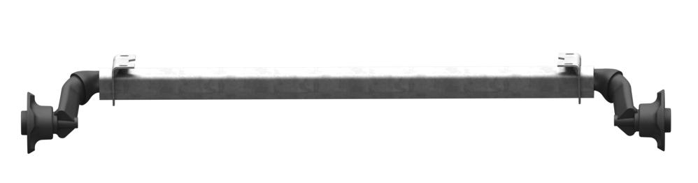 AL-KO Ongeremde torsie as - padmaat 1200 mm - flensmaat 1630 mm - 750 kg - 4x100