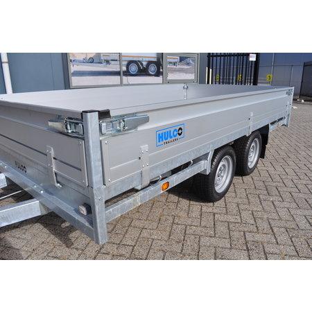 Hulco Geremde Hulco Medax plateauwagen - 335x183 cm - 3000 kg bruto laadvermogen - 30 cm borden