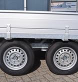 Hulco Geremde Hulco Medax plateauwagen - 405x203 cm - 3000 kg bruto laadvermogen - 30 cm borden