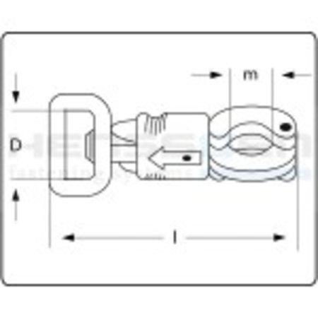 Paniekhaak paardentrailer type 3 verzinkt