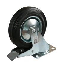 Zwenkwiel + rem - 100 kg - totale hoogte: 150 mm