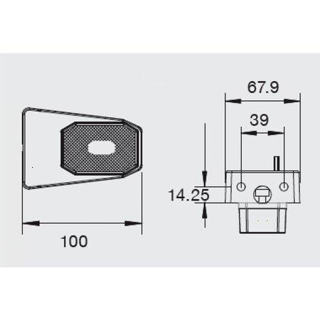 Aspock Flexipoint LED 50 cm DC-kabel op houder