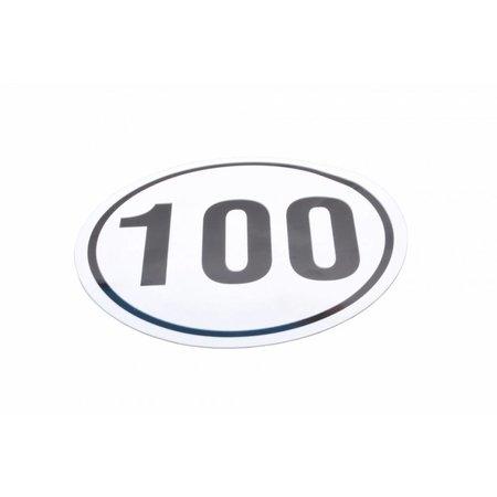 AWD Tempo 100 km sticker voor Duitsland - diameter van 200 mm (wettelijke afmeting)