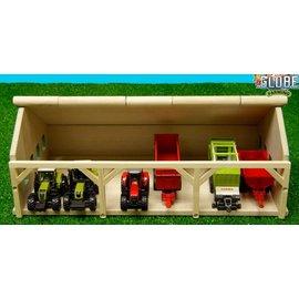 Kids Globe Tractorloods voor 6 tractoren (1:87/Siku)
