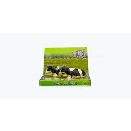 Kids Globe Liggende koeien zwartbont (1:32/Siku)