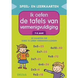 Boeken DT611231 - Speel- en leerkaarten - Ik oefen de tafels van vermenigvuldiging (7-8jr)