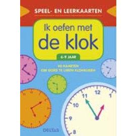 Boeken DT611372 - Speel- en leerkaarten - Ik oefen met de klok (6-9 jr)