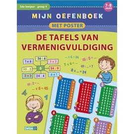 Boeken DT644814 - Mijn oefenboek met poster - De tafels van vermenigvuldiging (7-8 jr)