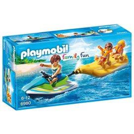 Playmobil pl6980 - Jetski met bananenboot